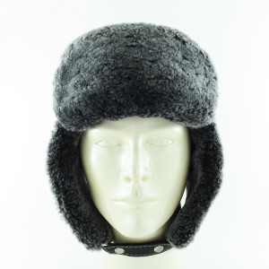 - Grey Fur Leather Ushaka Pilot Şapka-2 (1)