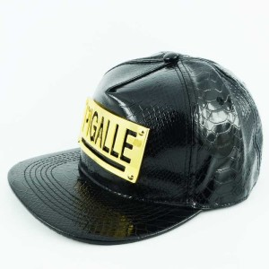 - Leather Siyah Pigalle Snapback Kep