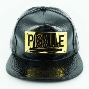 - Leather Siyah Pigalle Snapback Kep (1)