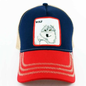 - Rooster Cock Wolf Lacivert Trucker Kep (1)