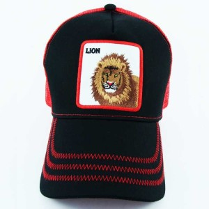 - Rooster Cock Lion Siyah Trucker Kep (1)