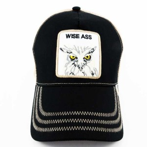 - Rooster Cock Wise Ass Siyah Trucker Kep (1)